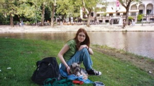 Joey and I in Vondelpark, Amsterdam 2005