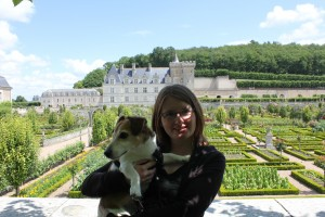 Bodie and I at the gorgeous Chateau de Villandry, Loire Valley, France